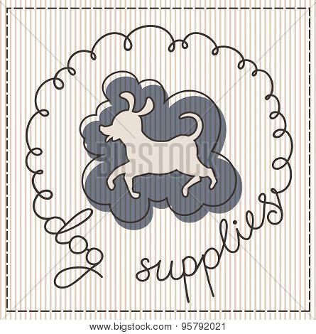 Dog Supplies Label