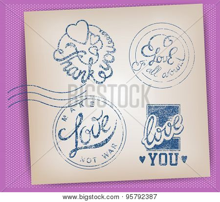 Love Stamps Set