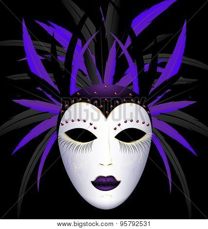 Carnival Purple Dark Mask