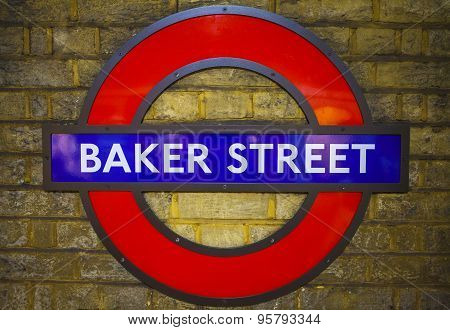 Baker Street Underground Station In London