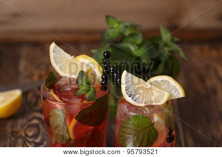 Blueberry Mojitos