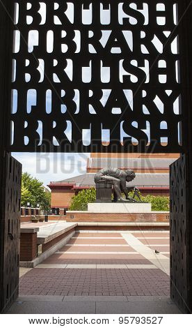 An Entrance To The British Library In London