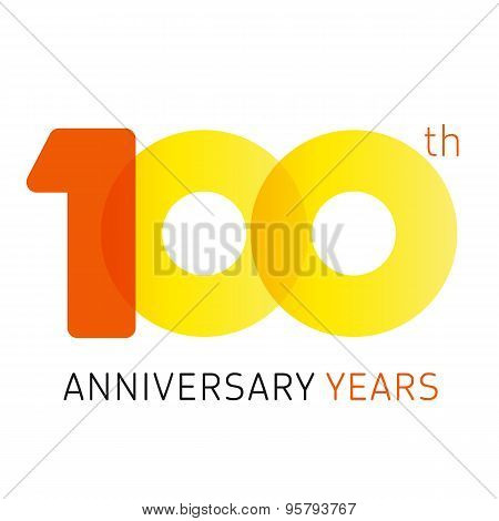 100 anniversary years logo