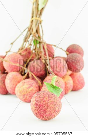 Red Litchi Fruit Isolated