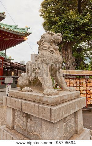 Komainu Of Kanda Shinto Shrine In Tokyo, Japan