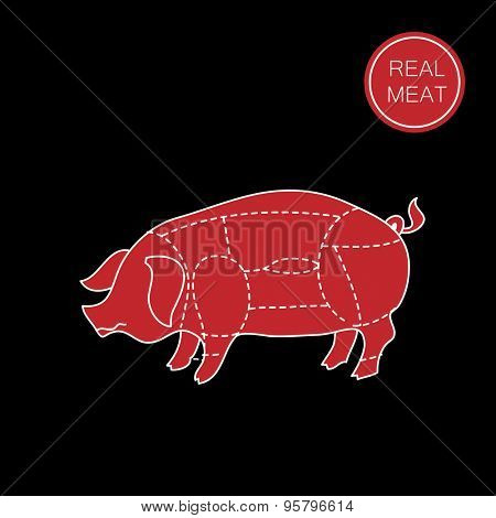 Real meat. Butcher shop. How to cut meat. Barbecue, steaks, meat dishes.