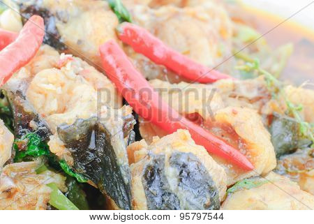 Spicy Fried Stir Catfish