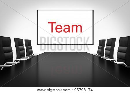 Conference Room With Whiteboard Team