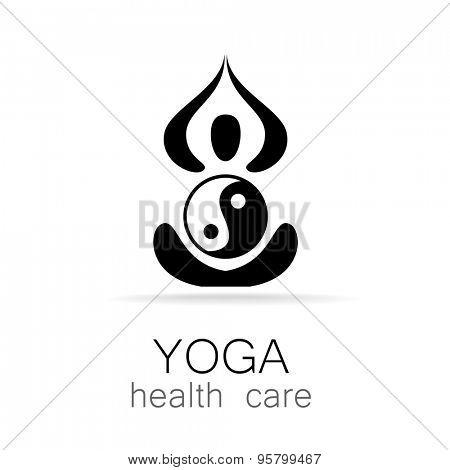 Yoga logo design template. Yoga concept icon. Meditation spa logotype.