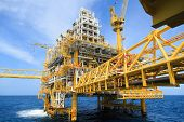 stock photo of offshore  - Construction platform for production energy - JPG