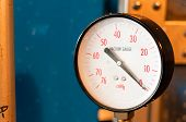 foto of vacuum pump  - The industrial vacuum gauge for measurement of pressure - JPG