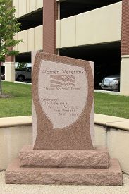 picture of veterans  - Memorial Dedication for Women Veterans located at Captain James A Lovell Federal Health Care Veterans Hospital Chicago Illinois  - JPG