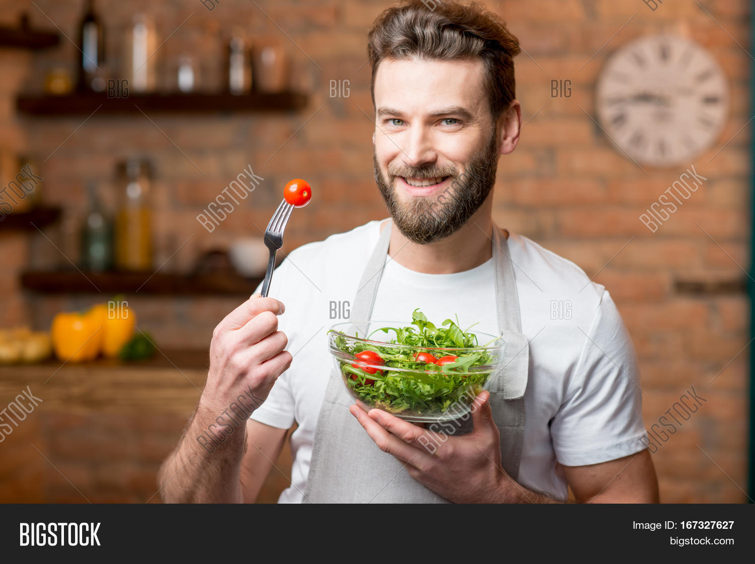White apron salads