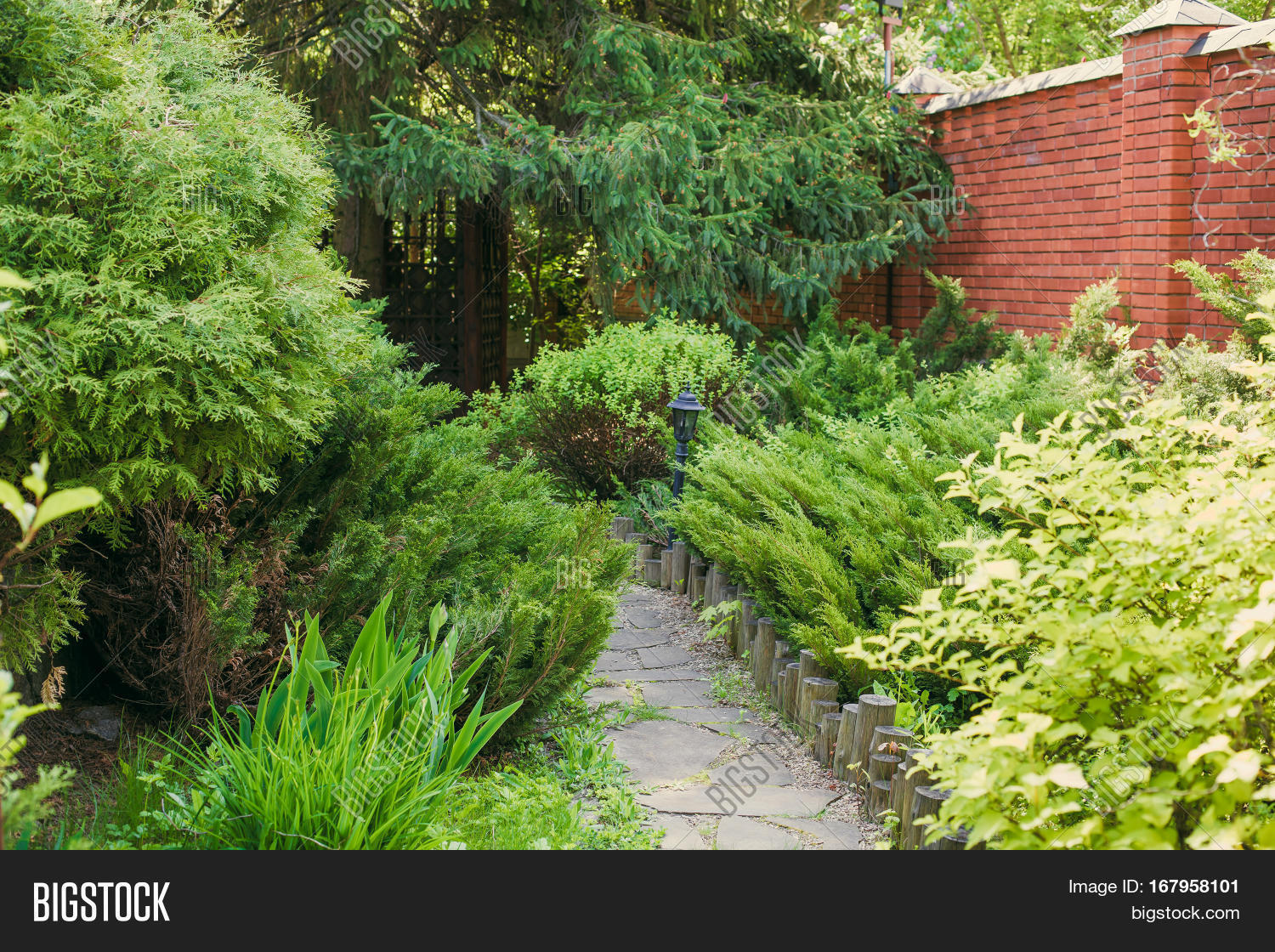 Beautiful landscape design image photo bigstock for Large bushes for landscaping