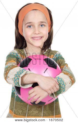 Girl Whit Ball