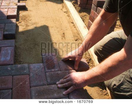 Brick Paving At Work