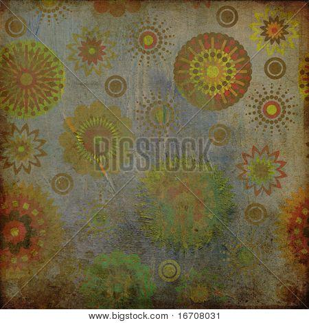 art floral vintage paper colorful background