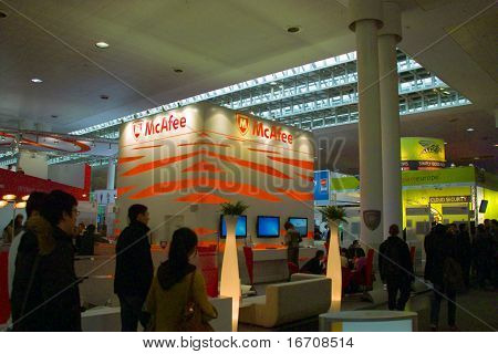 Stand Of Mcafee In Cebit Computer Expo