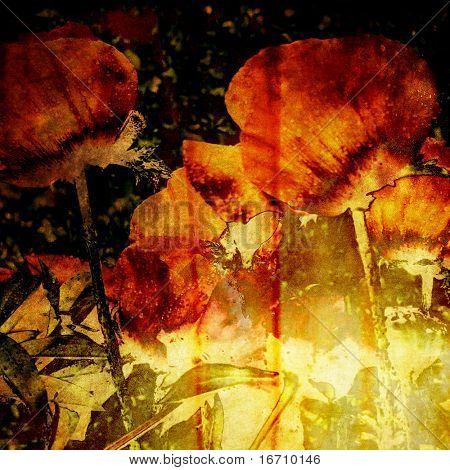 art floral vintage colorful background