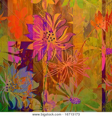 art floral grunge background pattern. To see similar, please VISIT MY PORTFOLIO.