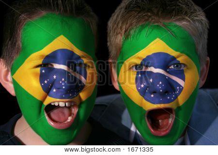 Young Brazilian Football Fans