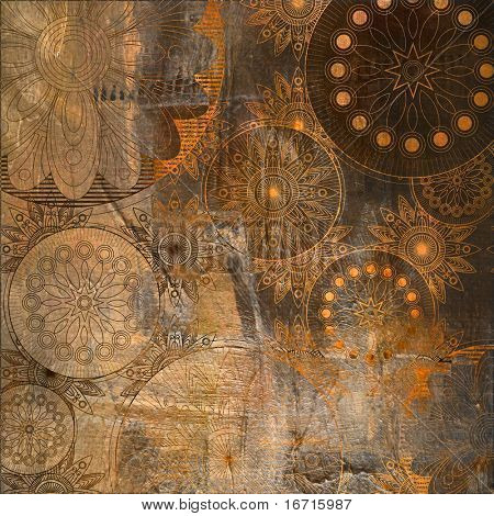 art floral ornament grunge background