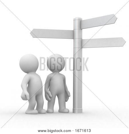 Escolha e sinais de direções