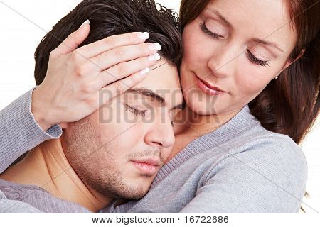 Woman Taking Care Of Her Boyfriend