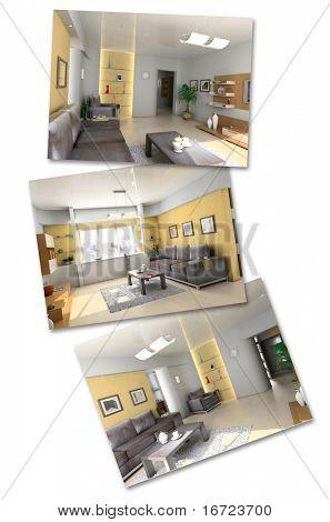 modern interior image set (3D rendering)