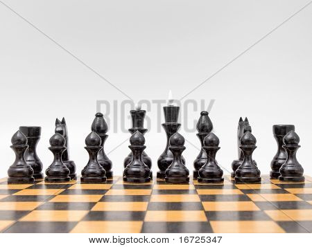 The chess on the white background (isolated).