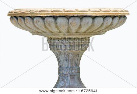 Vase of stones on the white background (isolated).