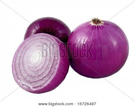 Cebolla violeta.