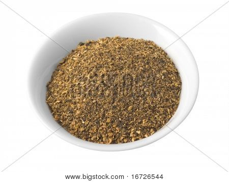 Dry mix spices (isolated with path).