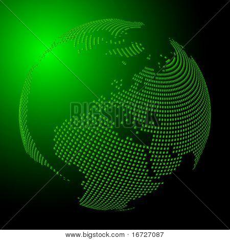 Grüne Erde.