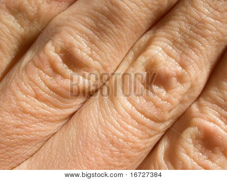 Fingers closeup.