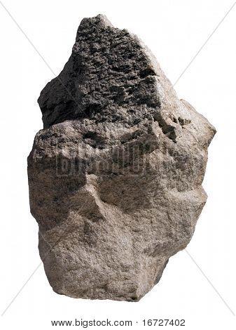 Roca sobre fondo blanco (aislada).