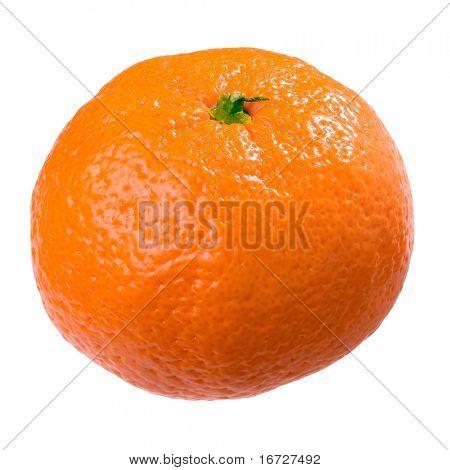 Mandarin on white background (isolated).