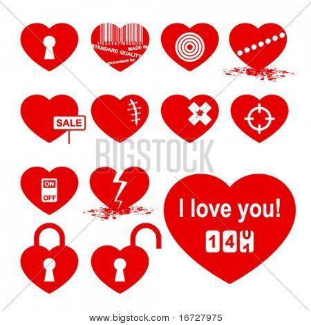 Hearts set ( allegory icon).
