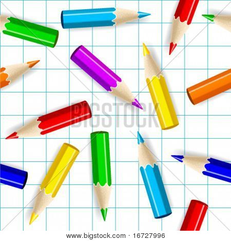 Color pencils seamless background.