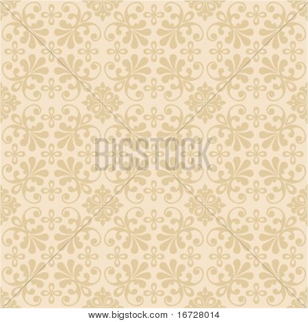 Floral seamless ornate background. (See more this theme in my portfolio).
