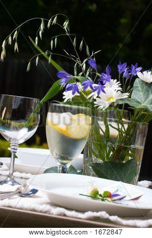 Outside Dinner Table Setting