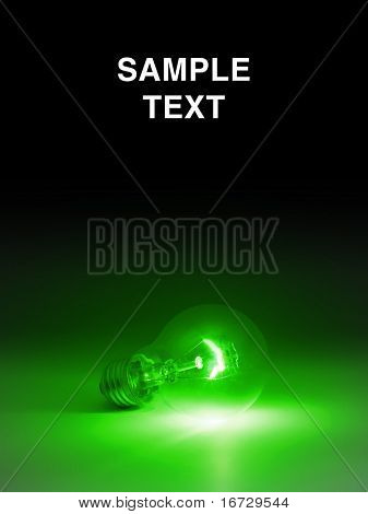 Lightbulb with space for text.