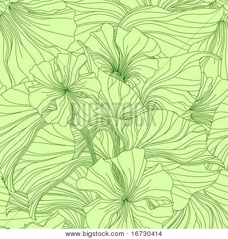Lily seamless pattern.