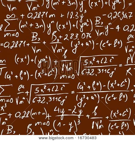 Equation seamless vector pattern.