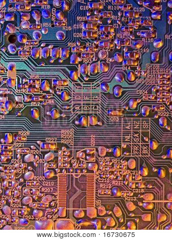 Mainboard abstract background pattern.