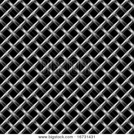 Metal net seamless background - vector pattern for continuous replicate.