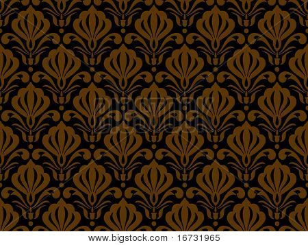 Seamless floral background - vector pattern for continuous replicate.