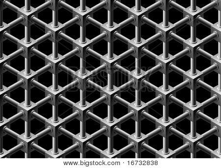 Cristalino de patrones sin fisuras - vector fondo continua repetición.