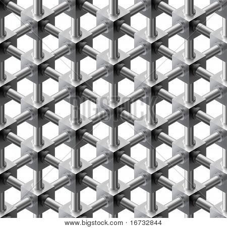 Crystalline seamless pattern - vector background for continuous replicate.