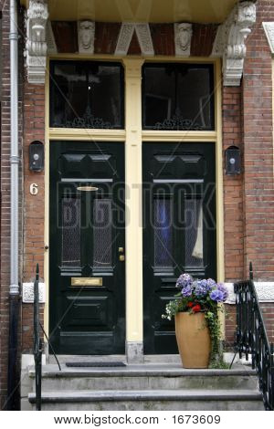 Home Entrance With Two Doors